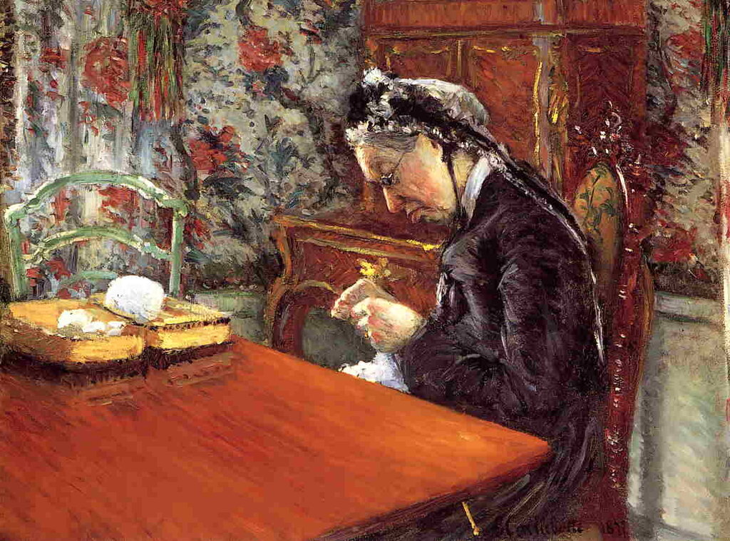 Portrait of Madame Boissiere Knitting  -  1877 - Museum of Fine Arts - Houston - Painting - oil on canvas.jpg