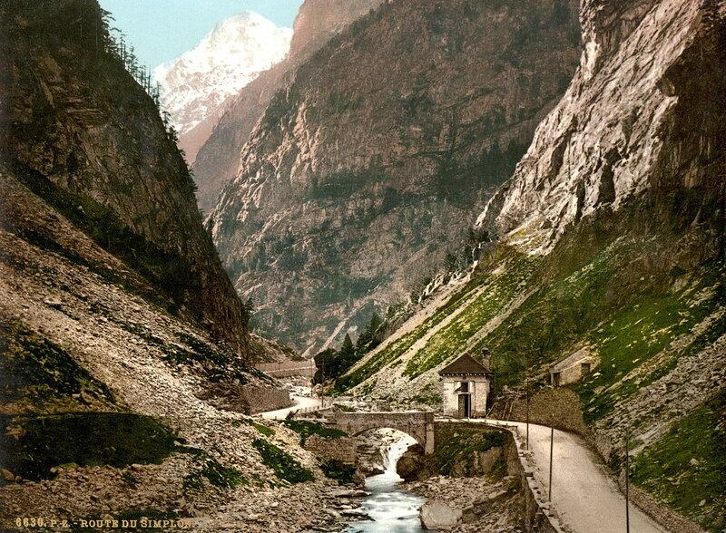 26. Перевал Симплон, ущелье близ деревни Гондо