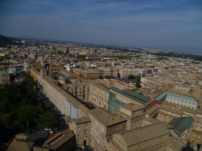 Ватикан. Рим. Вид с купола Собора Святого Петра (The Vatican. Rome. View from the dome of St. Peter's Basilica)