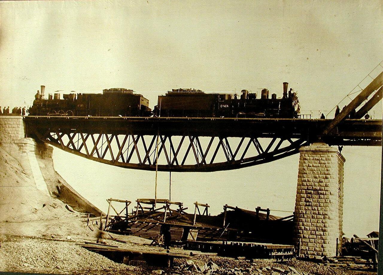 28. Статическое испытание береговой балки моста через р. Зею