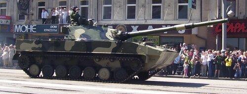 С камерой на танке
