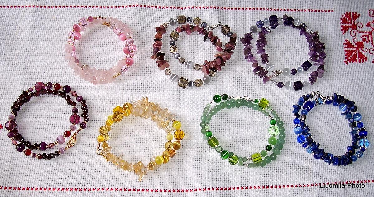 bracelet,amethyst,citrine,rose quartz,aventurine,tourmaline,garnet,lazurite