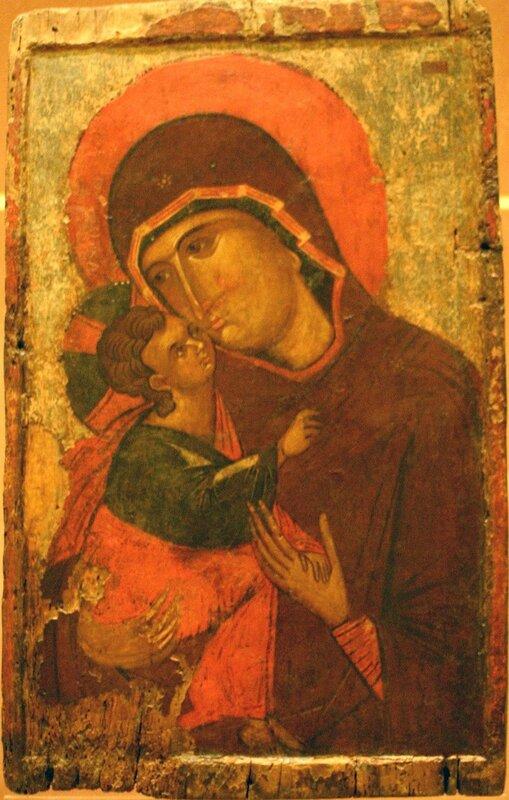 Богоматерь Елеуса. Икона XIV века. Византийский музей в Афинах.