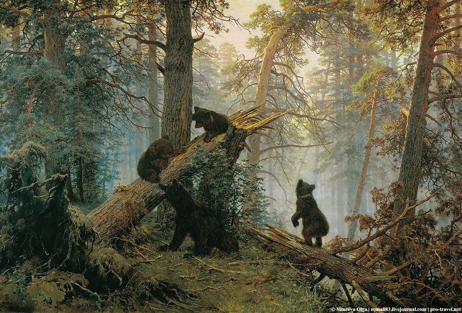 Утро в сосновом лесу_Шишкин