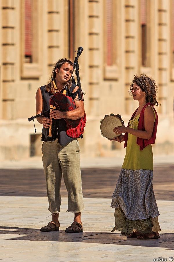 Сицилия, Сиракузы, уличные музыканты