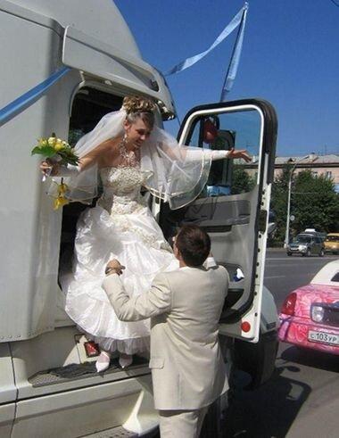 Необычный свадебный транспорт