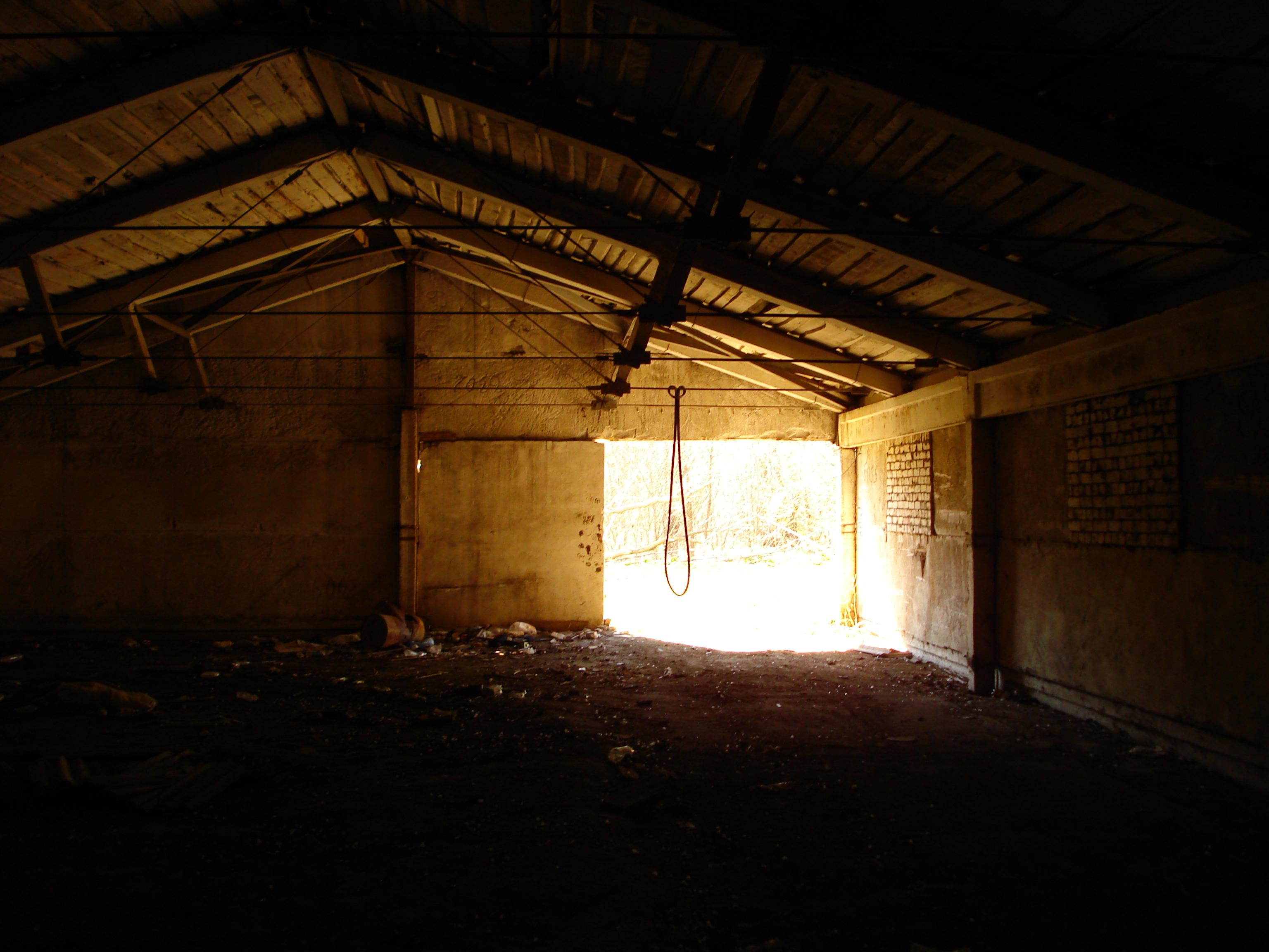 Заброшенный гараж