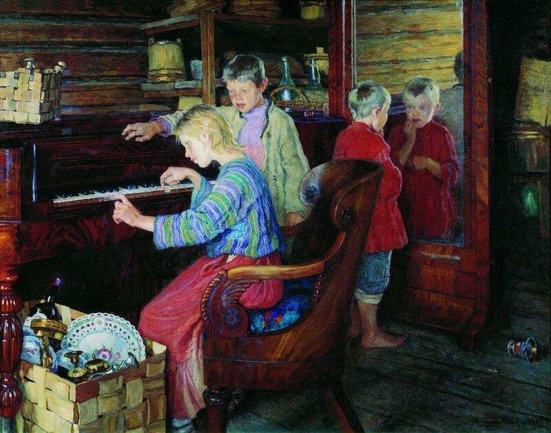 Богданов-Бельский Н.П. – Дети за пианино