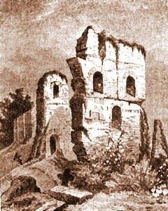 Руины Десятинной церкви на рисунках Вестерфельда, XVII век