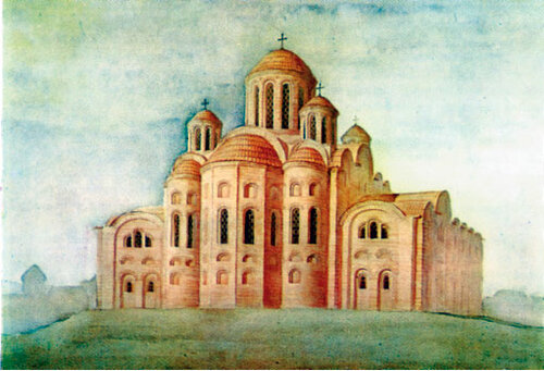 Десятинная церковь.Реконструкция Ю.Асеева