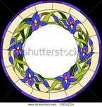 stock-vector-beautiful-garden-flowers-and-bouton-of-iris-floral-vector-circle-192162314.jpg