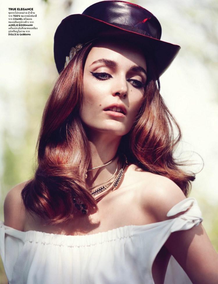 Zuzanna Bijoch в июньском Vogue Thailand 2014