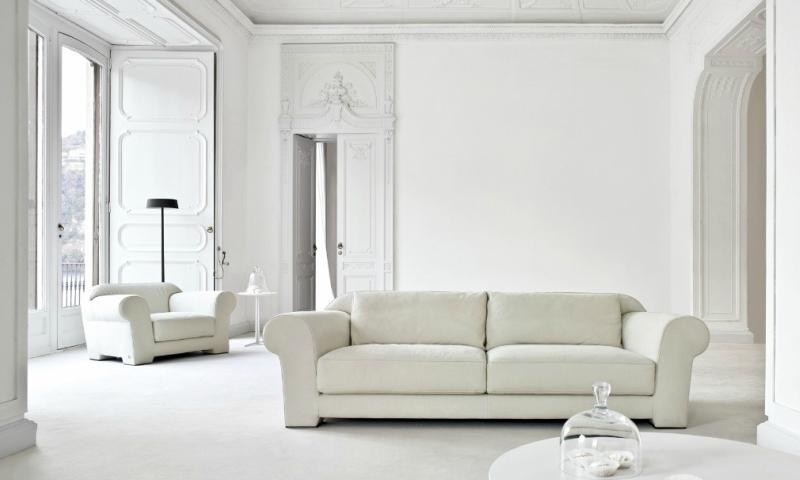 Белый цвет в интерьере гостиной, фото 12