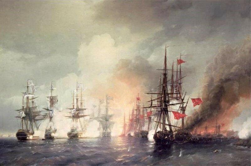 «Морское сражение при Синопе 18-го ноября 1853 года»./Иван Айвазовский/