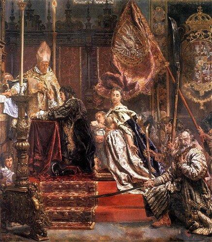 Венчание Яна Казимира в Латинском соборе 1 апреля 1656 года (фрагмент картины Яна Матейко)