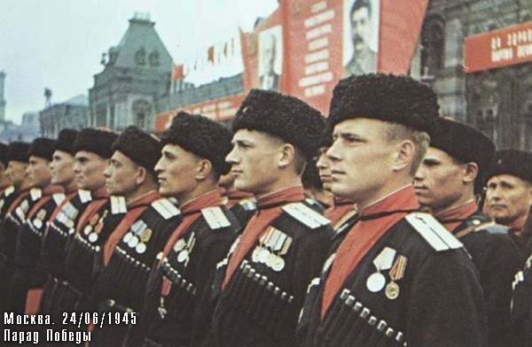 Кубанские казаки на Параде Победы