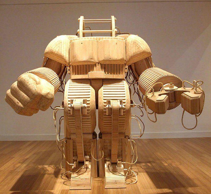 Деревянные скульптуры Майкла Ри