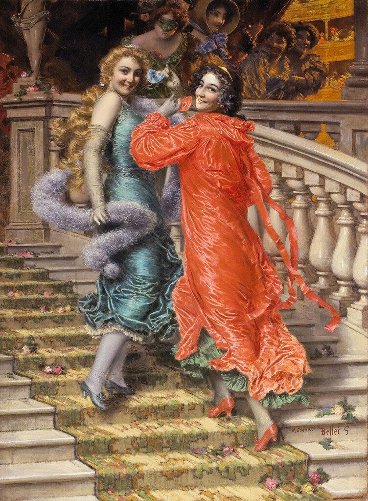 «На лестнице», 1907Галерея Академии, Венеция, Италия. Беллей Гаэтано(Belley Gaetano)