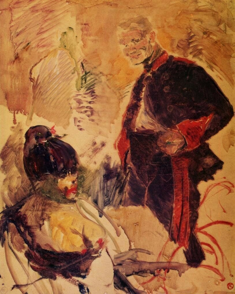 Artillerman and Girl - 1886 - Musee Toulouse-Lautrec - Albi.jpg