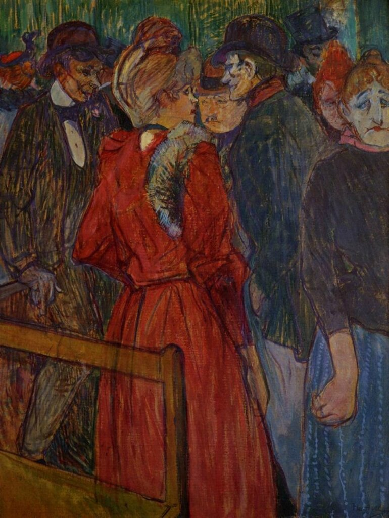 At the Moulin de la Galette - 1891 - PC- Painting - oil on board.jpg