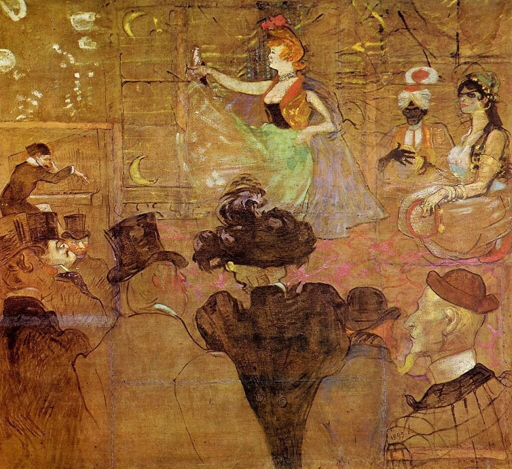La Goulue Dancing (also known as Les Almees) - 1895 - Musee d'Orsay - Paris - Painting - oil on canvas.jpg