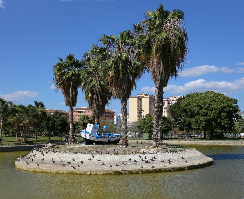 Малага. Парк Уэлин (Parque de Huelin)