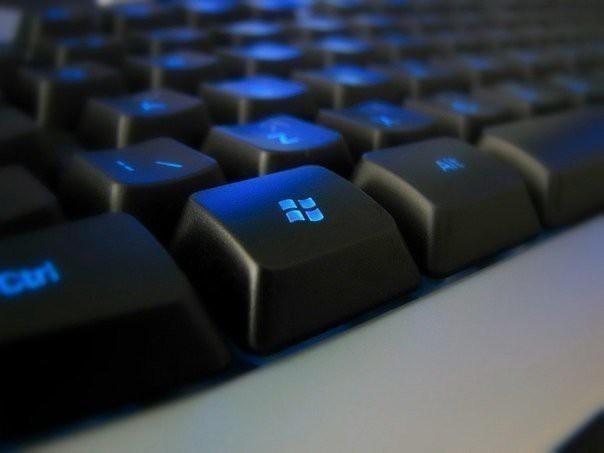 1. Win — вызов меню Пуск (переход в режим Metro в Windows 8); 2. Win B — выбрать иконку