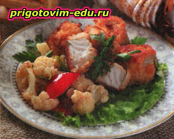 Рыба в свином шпике
