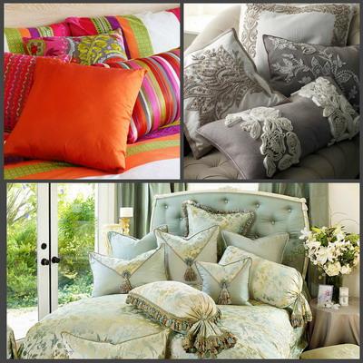 Декоративные подушки в доме