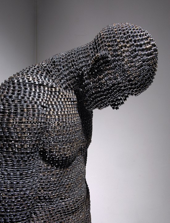 Figurative Sculptures Made From Tightly Welded Chains by Young-Deok Seo