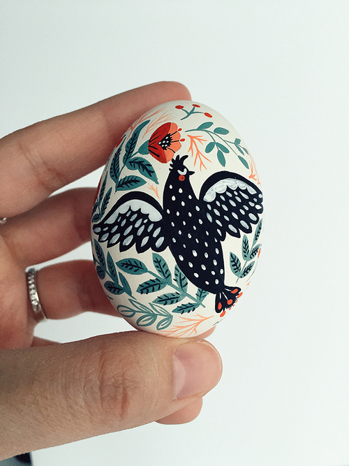 Original Birds Paintings on Easter Eggs