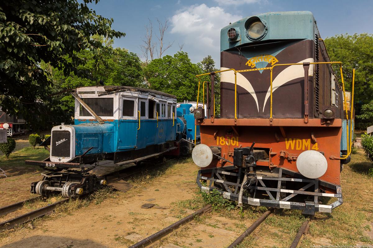 Short stay in India. National Railway Museum in Delhi