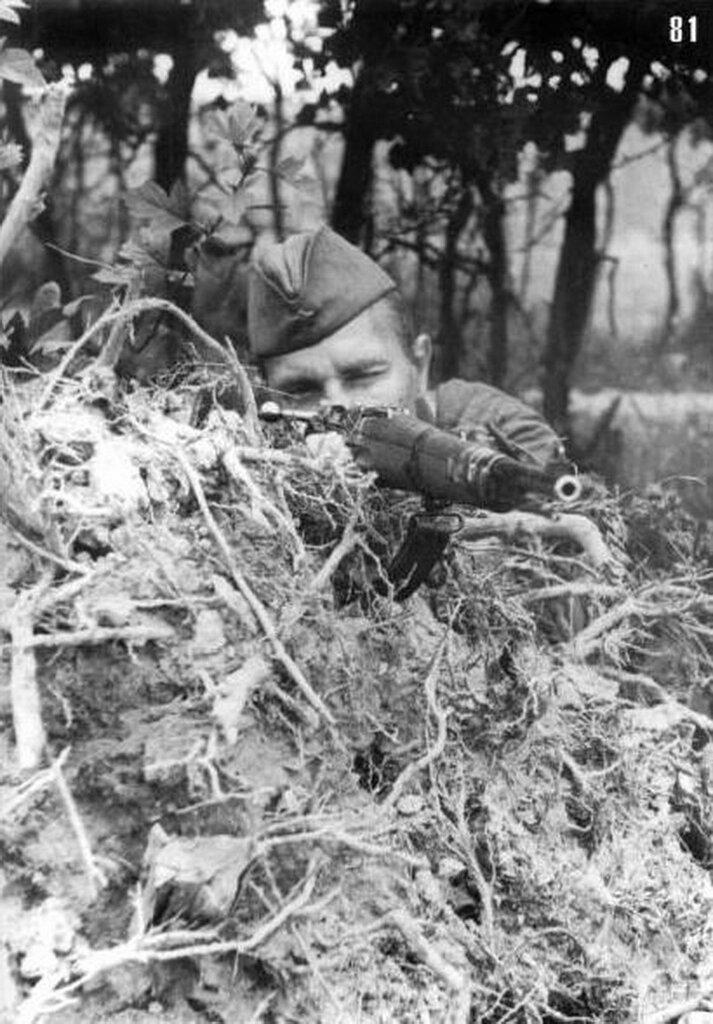 Снайпер Ф.И. Федоров, личный счет – 28 немцев. Июль 1941. Юго-Западный фр.jpg