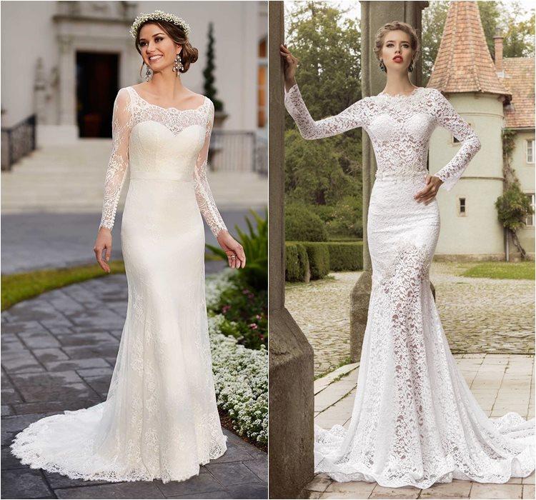 Кружевные свадебные платья 2016 фото 2