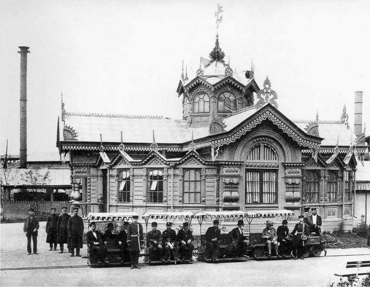 1880-е. Москва. Павильон Сименс и Гальске (электрическая железная дорога)