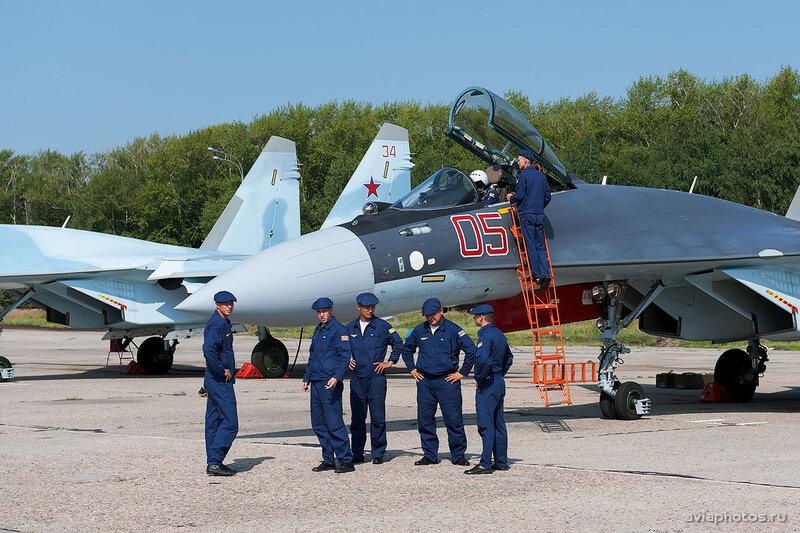 Сухой Су-35С (RF-95245 / 05 крансый) ВКС России 0010_D703491