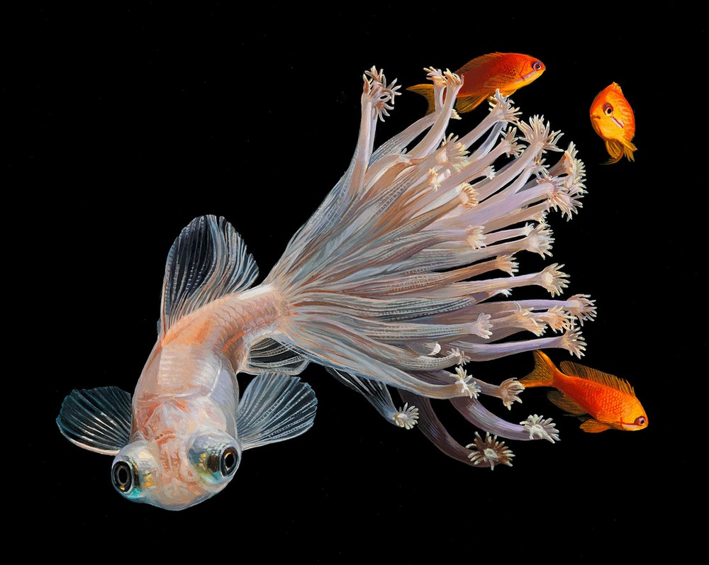 Гиперреалистичные картины с рыбками