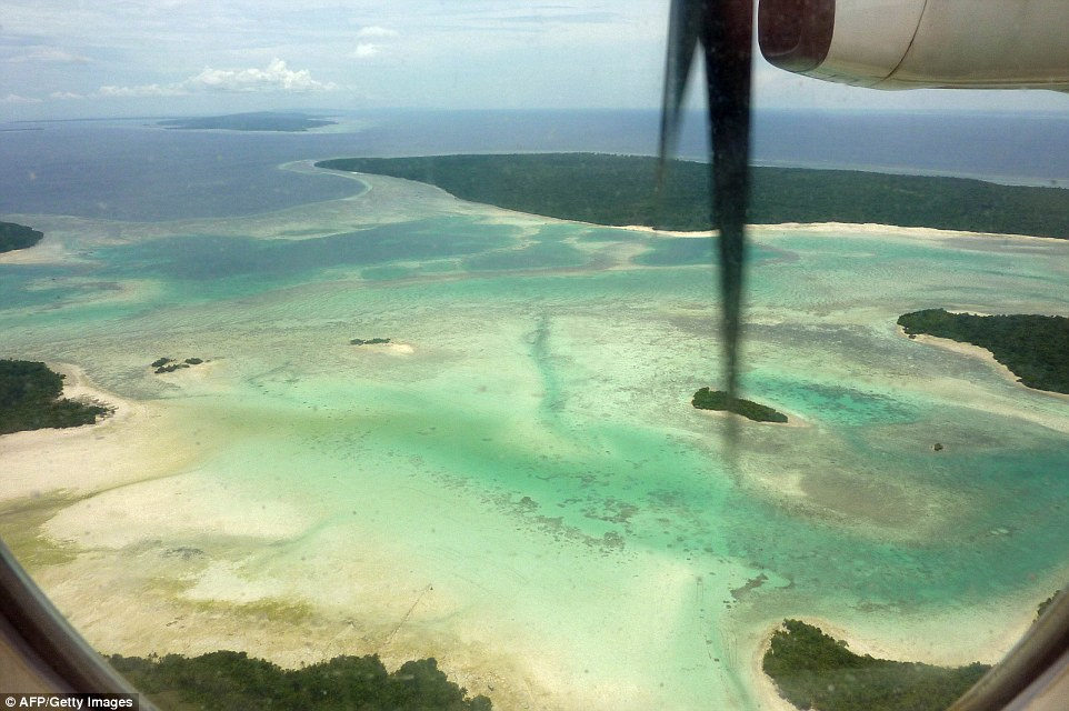 Вид с воздуха на индонезийский архипелаг Вакатоби.