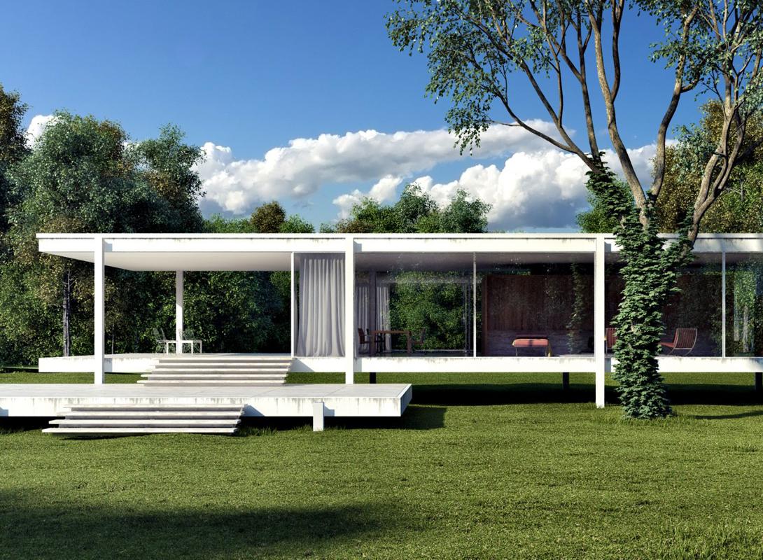 Особняк в пригороде Чикаго создан архитектором Людвигом Мис ван дер Рое — немецким модернистом, веду