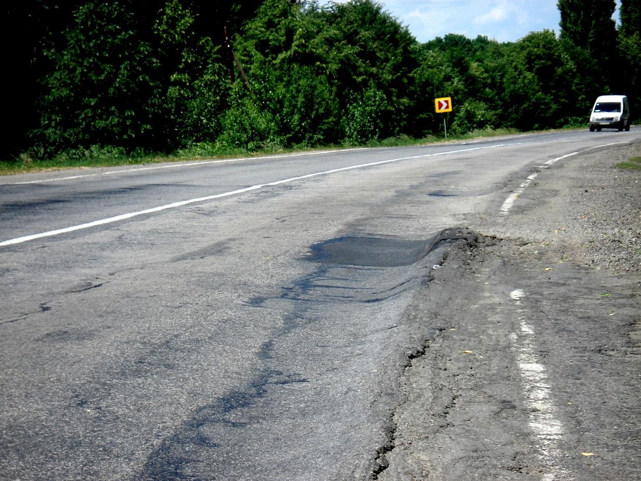 Украинские дороги покачеству попали впятерку худших