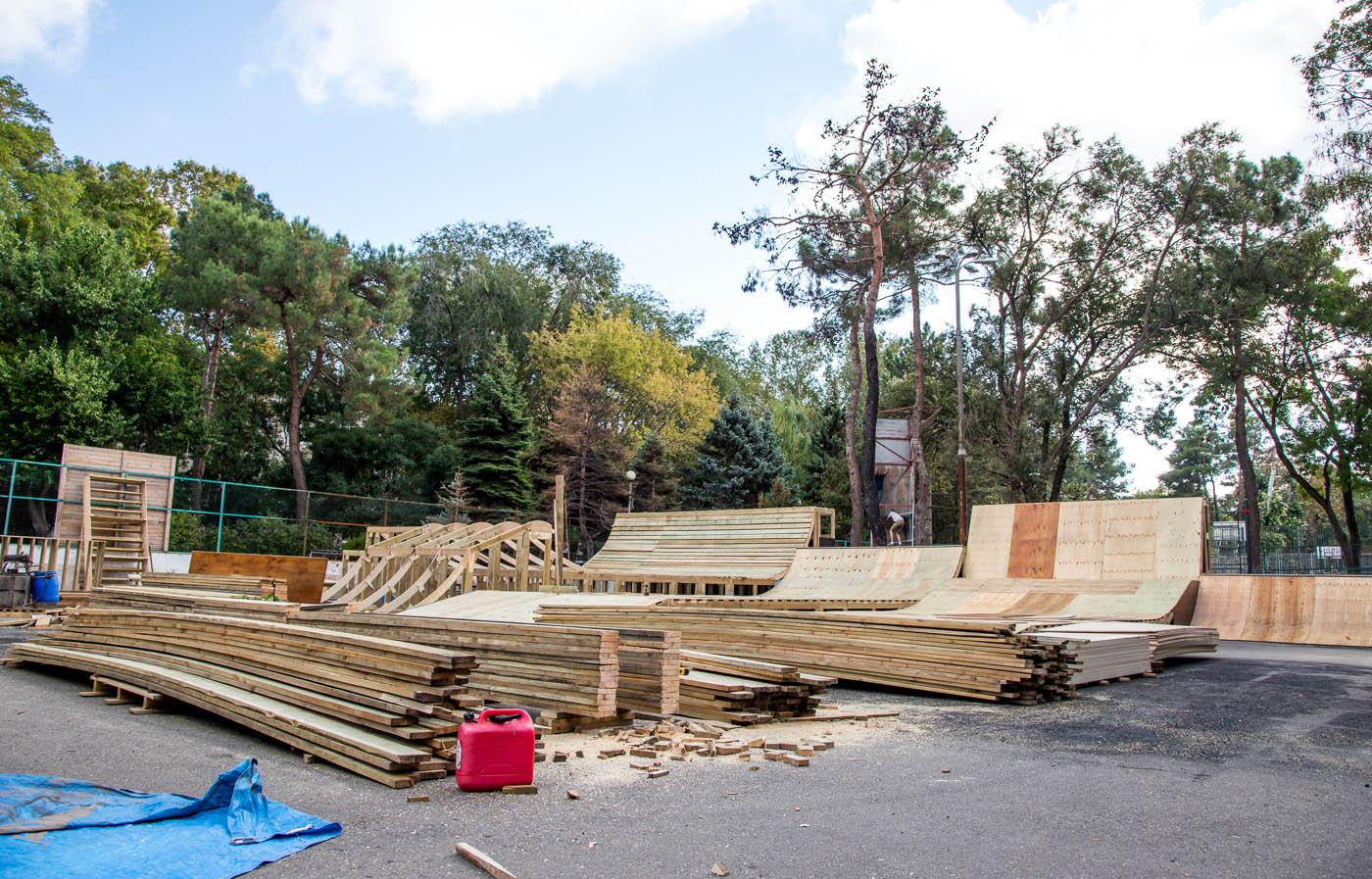 Анапа скейт-парк реконструкция