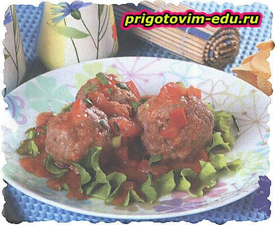 Тефтели с консервированными томатами