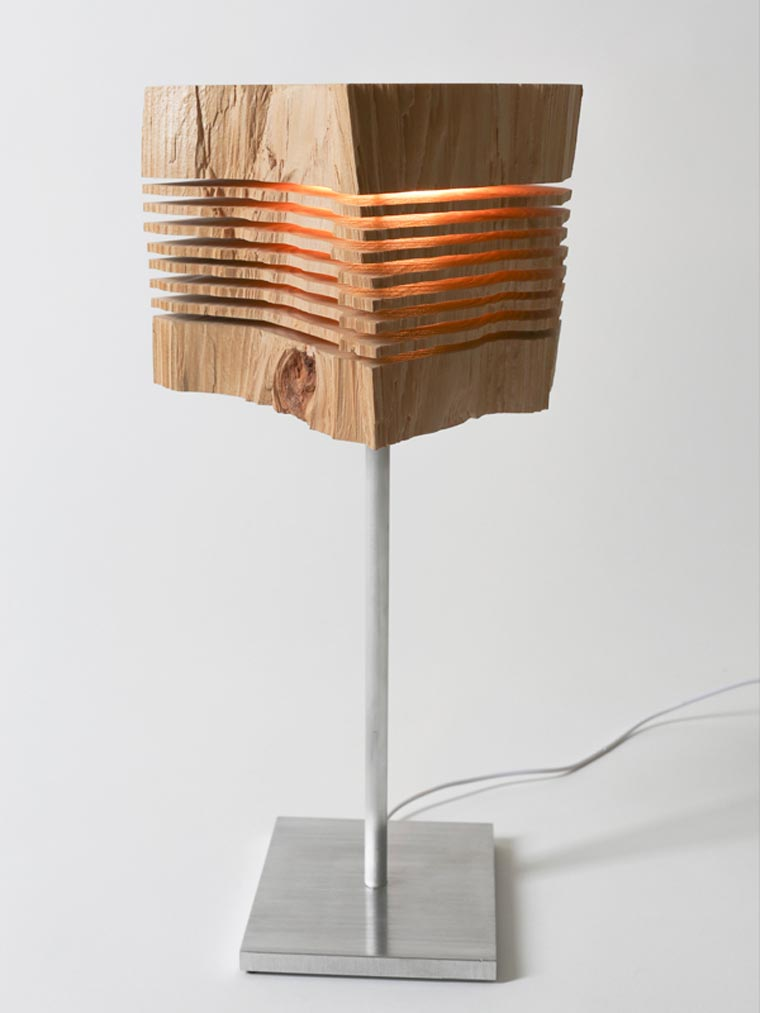 Light Structures - Some beautiful lamps made of sliced wood pieces