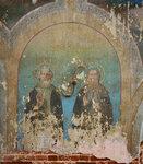 """Фреска """"Преподобные Сергий и Иероним""""."""