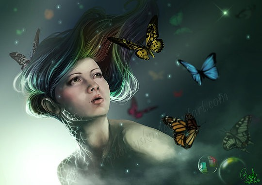 Brilliant Digital Illustrations by Rapti Mortengel