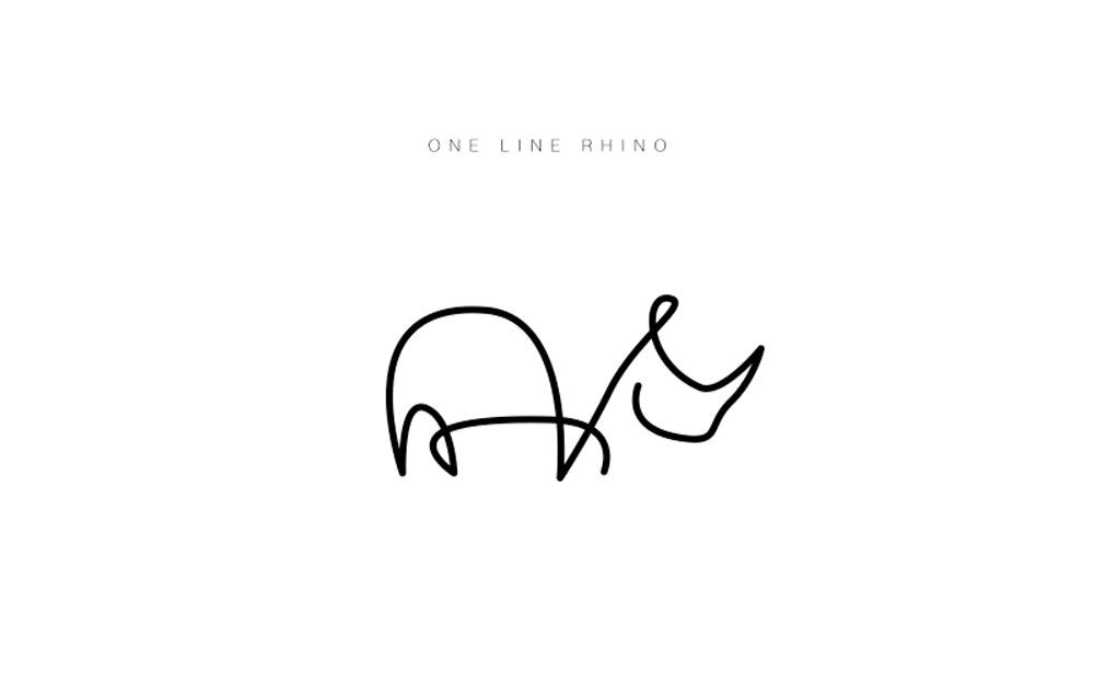 Desenhos minimalistas delineiam logos de animais