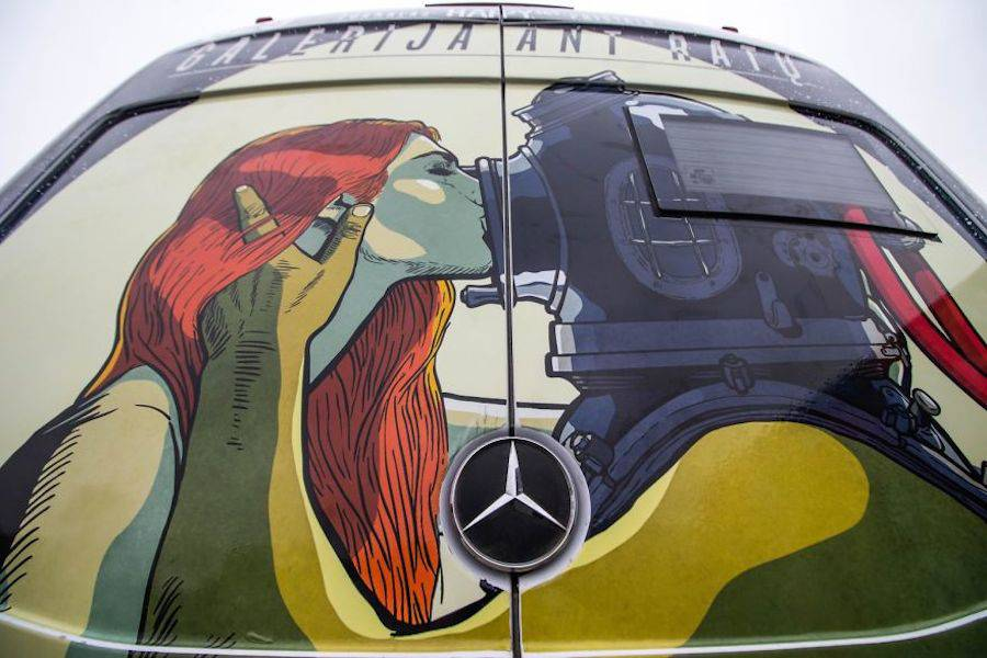 Pop Art on Public Transports in Lithuania