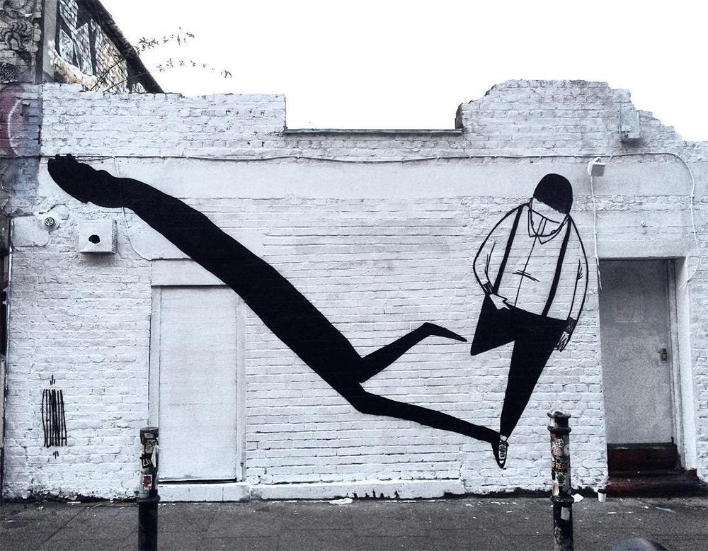 Funny Black & White Mural Artworks