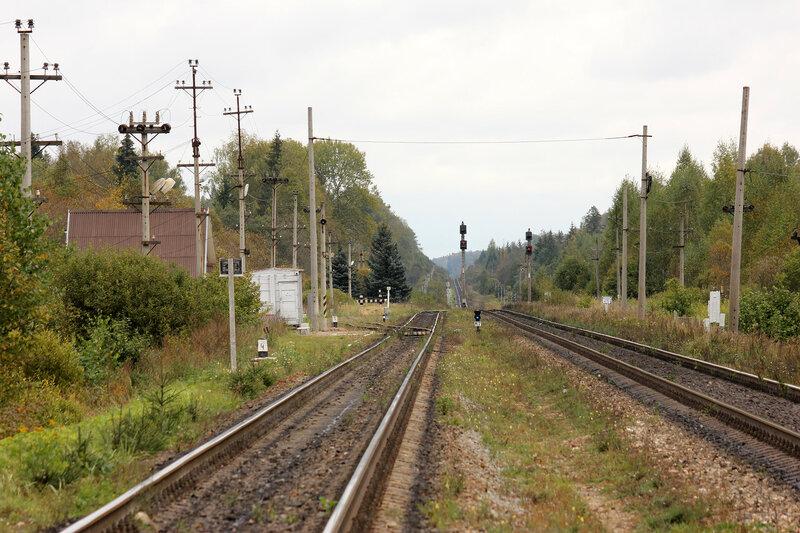 Станция Подсосенка, платформа. Вид на Ржев в телевик