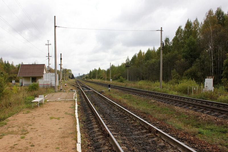 Платформа на станции Подсосенка, вид на Ржев